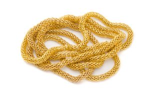 steel tube chain 3mm gold x3m