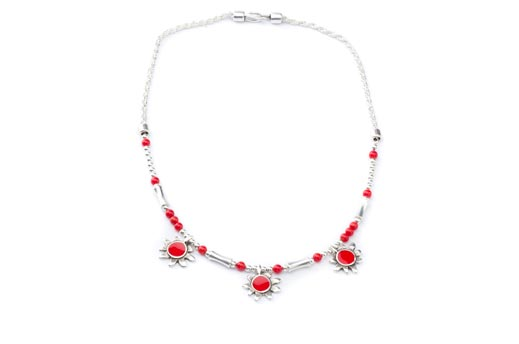 COLLIER SOLEIL rouge