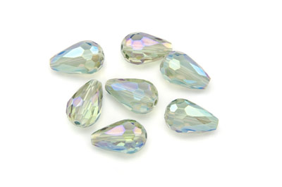 faceted drop 15mm