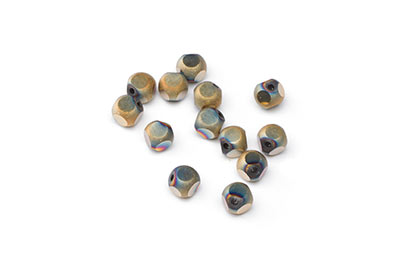 faceted glass beads 6mm