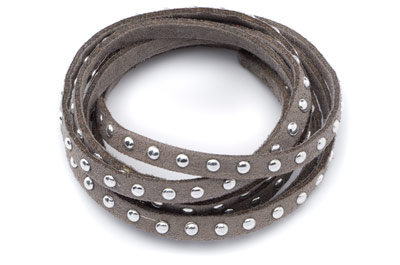 5mm suede band with rivets