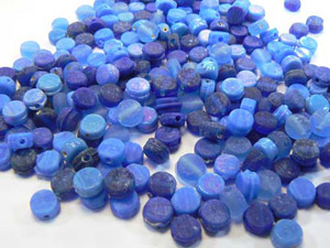 bead mix round flat 7*8mm 100g