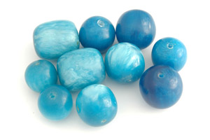 assorted acrylic beads