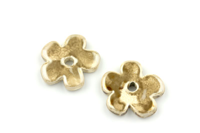 flower 25mm beige x12pcs