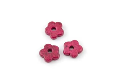 flower ceramic matt 15mm fuchsia x50pcs