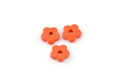 flower ceramic matt 15mm coral x50pcs