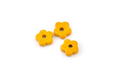 flower ceramic matt 15mm safran x50pcs