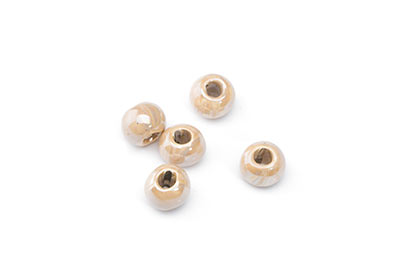 ceramic bead 8mm dark cream x25pcs