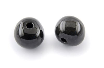 bead ceramic 22mm black x 12pcs