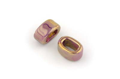 tube 10*19mm fuchsia bronze x25pcs