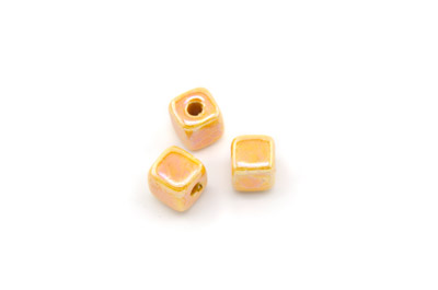 cube céramique 8mm orange x25pcs