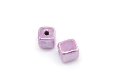 ceramic cube 12mm lilac x25pcs