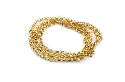 chain ring round 2.5mm- gold color x1m
