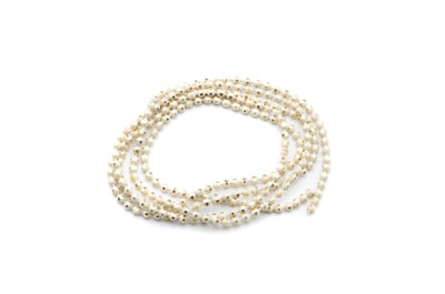 brass ball chain 1,5mm electro beige x5m