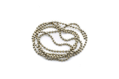brass ball chain 1,5mm electro grey x5m
