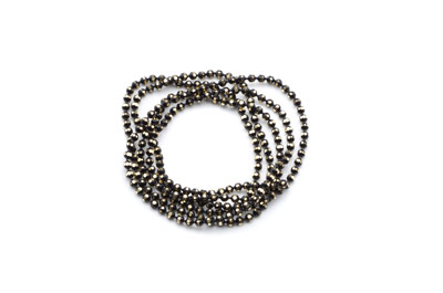 brass ball chain 1,5mm electro black x5m