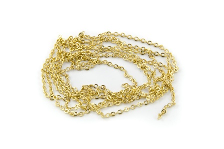 Kette oval 1,5mm gold Farbe x1m