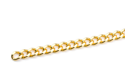 brass chain 7x5mm gold color x1m