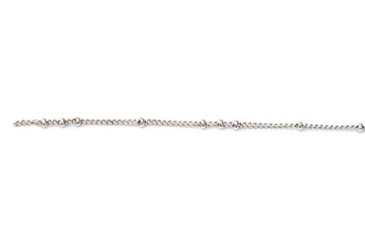 fine chain 1mm and ball 2mm antique silver x1mtr
