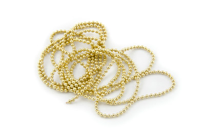 ball chain 1,5mm gold color x2m