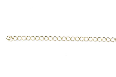 twisted oval link chain 4x3mm gold x1mtr