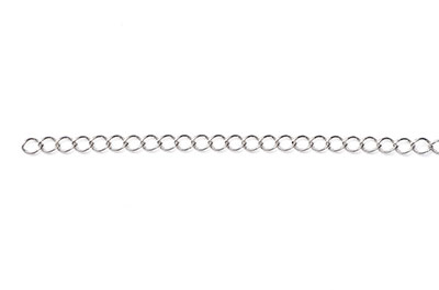 chain oval mesh twist 4x3mm antique silver x1mtr