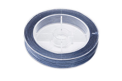 navy blue cotton thread 0.8mm coil of 20m x1pce