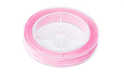 light pink cotton thread 0.8mm coil of 20m x1pce