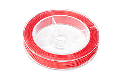 coral red cotton thread 0.8mm coil of 20m x1pce