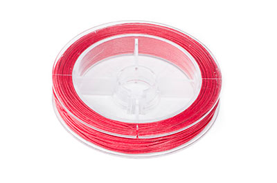 red cotton thread 0.8mm coil of 20m x1pce