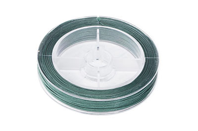 green cotton thread 0,8mm coil of 20m x1pce