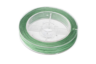 olive green cotton thread 0.8mm coil of 20m x1pce