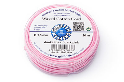 light pink cotton thread 1.5mm 20m x1pce coil