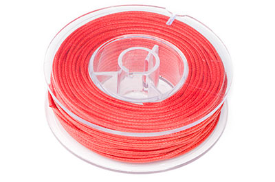 coral red cotton thread 1,5mm 20m x1pce coil