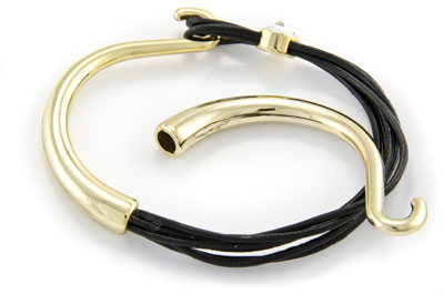 half bracelet 6cm with hook gold color for 1.5 to 2mm cord x5pcs