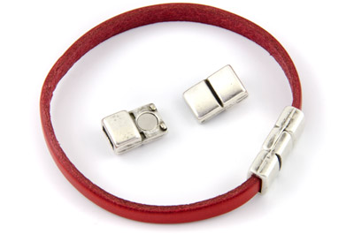 magnet clasp 21x10mm for 6mm flat leather x5pcs