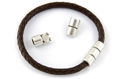 magnet clasp 21x9mm for 5mm cord x5pcs