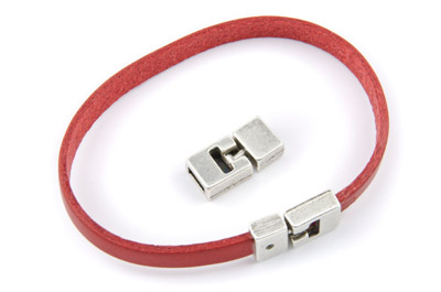 clasp 19mm for 6mm flat leather x5pcs