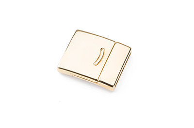 magnet clasp 27x23mm for 20mm flat leather gold color x5pcs