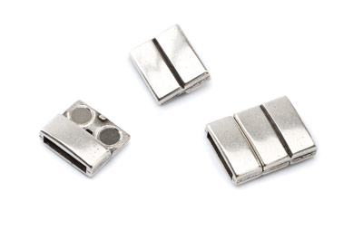 magnetic clasp 21x16mm for 12 to 13mm flat leather x5pcs