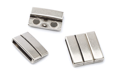 magnetic clasp 21x23mm for 20mm flat leather x5pcs
