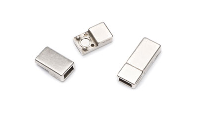 magnetic clasp for flat band 6mm 22x8mm x3pcs