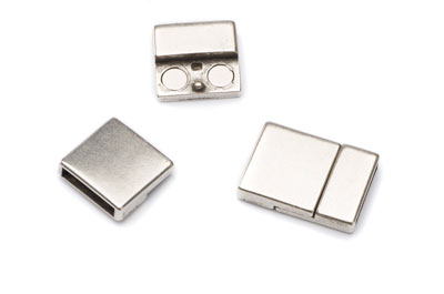 magnetic clasp for flat band 6mm 15x22mm x2pcs