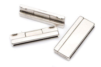 magnetic clasp for flat band 40mm 42x22mm x2pcs