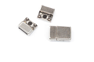 magnetic clasp 19x13mm for strap 10mm x3pcs