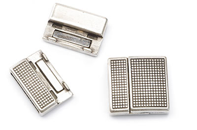 magnetic clasp 23x23mm for strap 20mm x2pcs