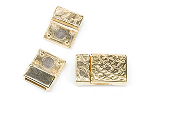magnetic clasp gold 22x13mm for strap 10mm x3pcs