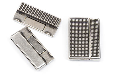magnetic clasp 23x33mm for strap 30mm x2pcs