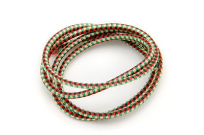 elastic cord 2,5mm black red green x10m