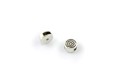 slider bead round spiral 10mm x20pcs